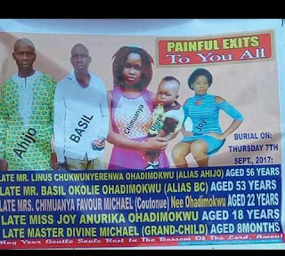 Tragic! Family of 5 including 8 months baby allegedly poisoned to death