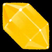 鉱石のイラスト(黄色)