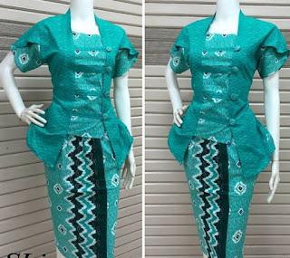Model Baju Batik Kombinasi Polos untuk kerja