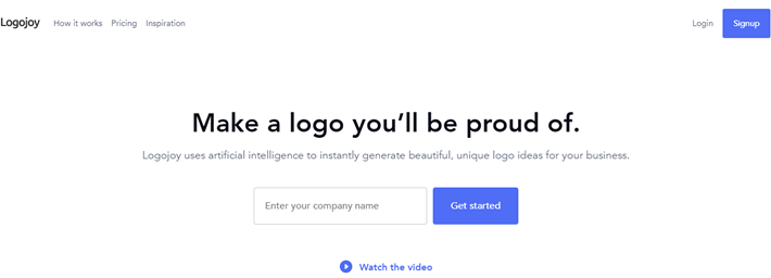 Creating a new logo with Logojoy