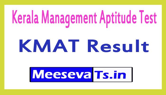 Kerala KMAT Results 2017