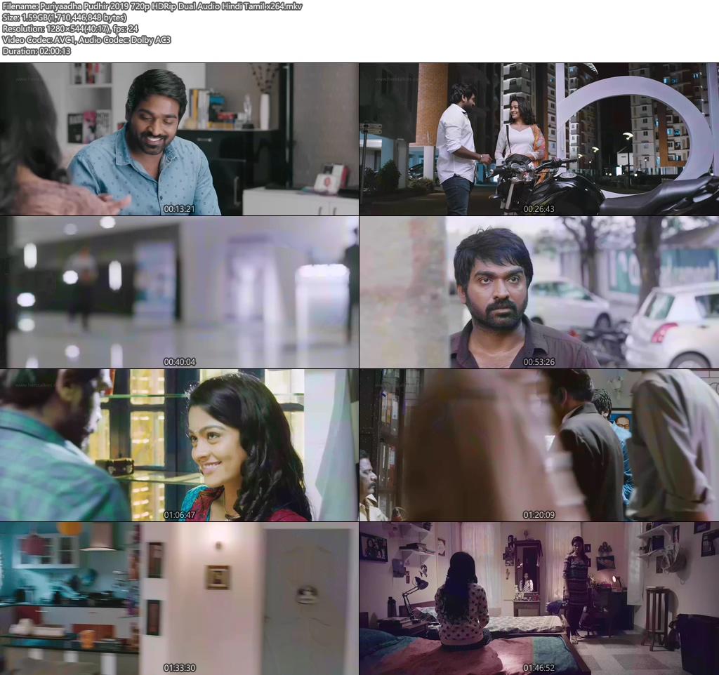 Puriyaadha Pudhir 2019 720p HDRip Dual Audio Hindi Tamil x264 | 480p | 300MB | 100MB HEVC Screenshot