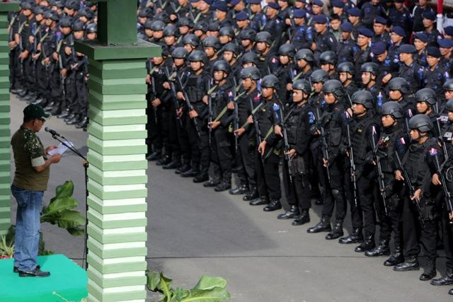 Pasukan BKO Pengamanan Pilkada Aceh