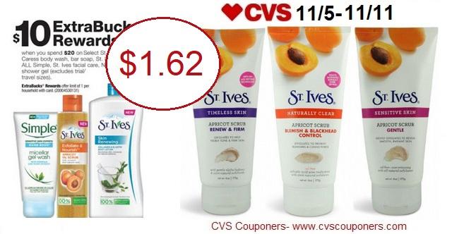 http://www.cvscouponers.com/2017/11/hot-st-ives-face-scrub-only-162-at-cvs.html