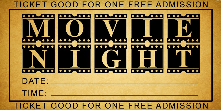 family strong free printable movie night tickets