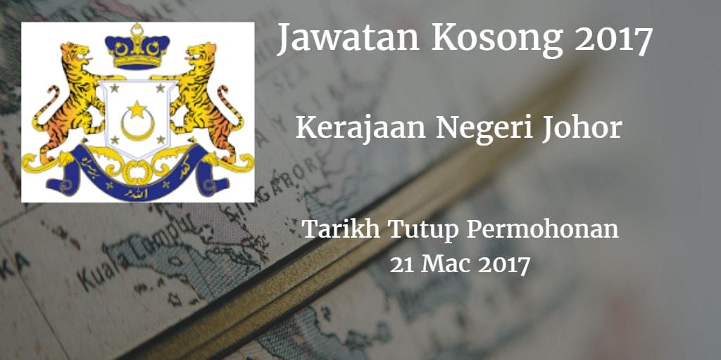 Jawatan Kosong SUK Johor 21 Mac 2017