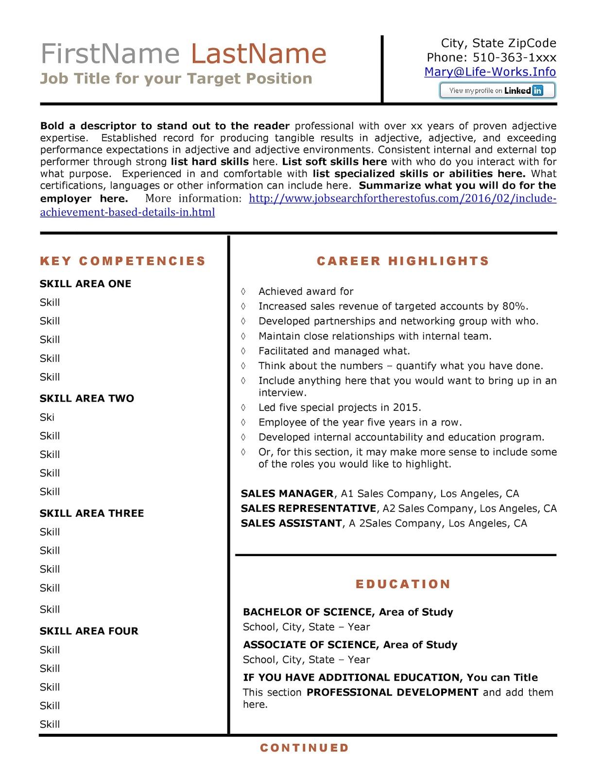 writing achievement based resume sample