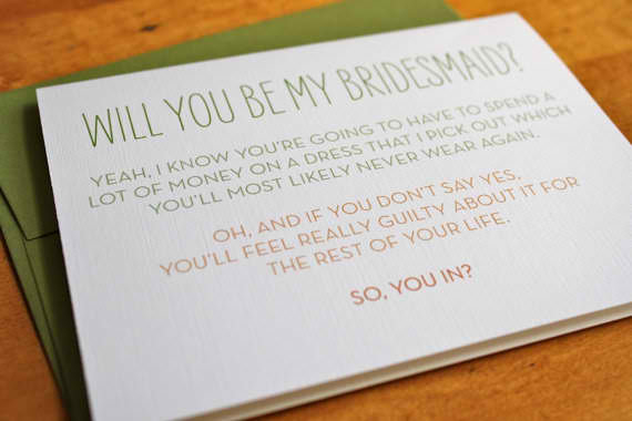 Unique By Design: Will You Be My Bridesmaid?