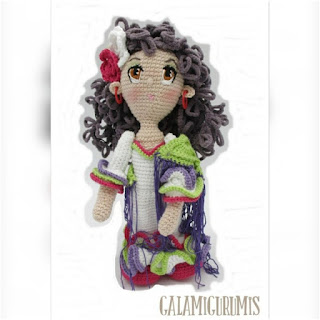 patron amigurumi Flamenca galamigurumis