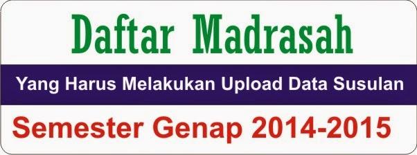 Daftar Madrasah yang harus Upload Data Ulang