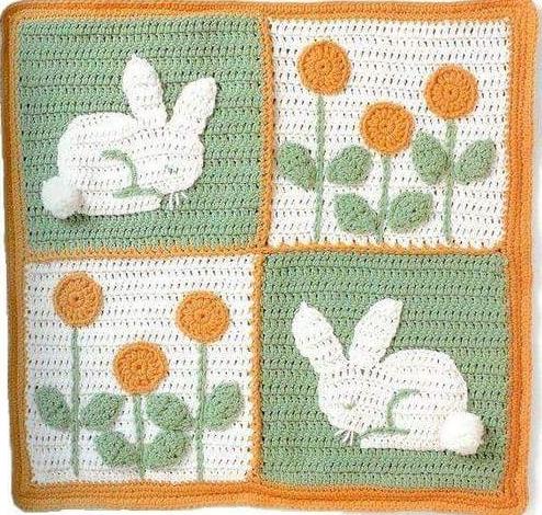Patrón #1462: Figura de Conejo a Crochet