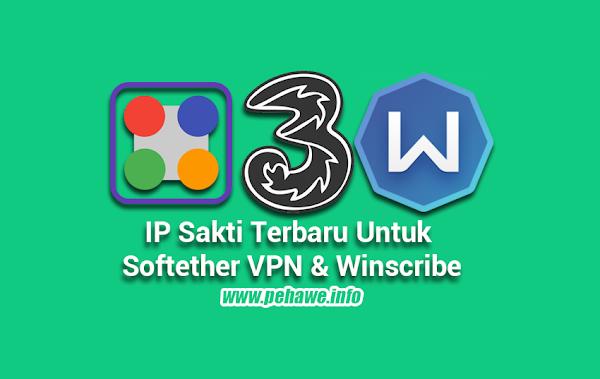 IP Sakti Tri Untuk Softether VPN dan Winscribe