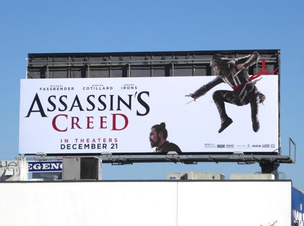 Assassins Creed movie extension billboard