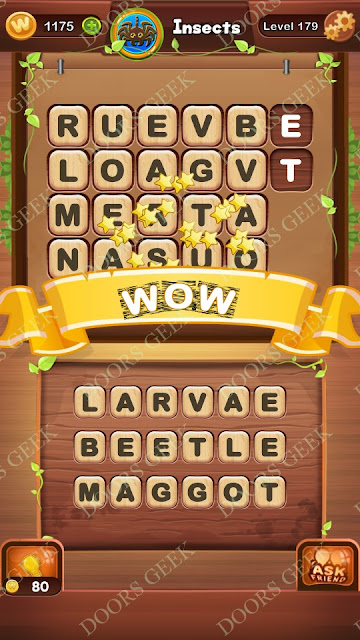 Word Bright Level 179 Answers, Cheats, Solutions, Walkthrough for android, iphone, ipad and ipod