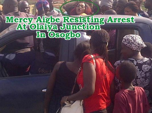 mercy aigbe arrested olaiya junction osogbo
