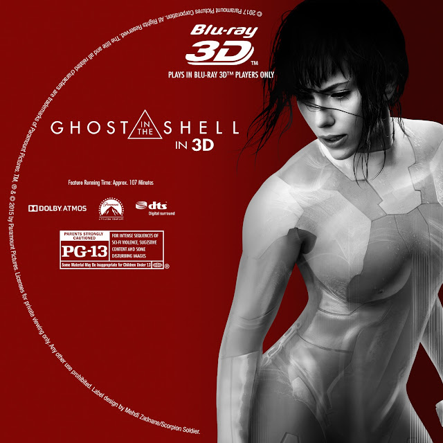 Ghost In The Shell 3D Bluray Label