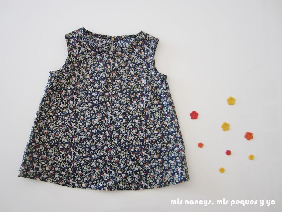 mis nancys, mis peques y yo, tutorial blusa sin mangas niña (patrón gratis), blusa terminada