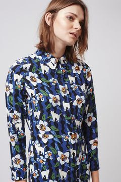 Kitten floral dress, $90 from Topshop
