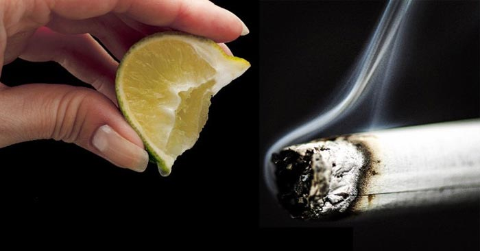 smoking, nicotine, lemon
