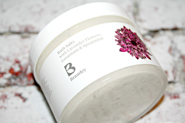 Bramley Bath Salts with Lavender Flowers, Geranium and Spearmint