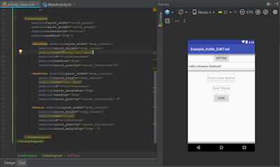 Android Studio - EditText Kotlin
