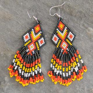 купить серьги из бисера купить авторские украшения ручной работы в этно-стиле