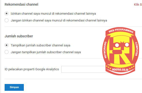 pengaturan menonaktifkan tampilan jumlah subcriber channel youtube