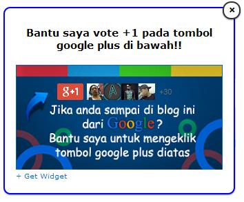 Cara Membuat Widget +1 Google Plus Melayang pada Blog