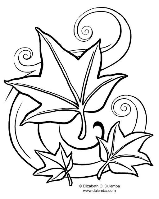Три листика раскраски Three leaves of coloring