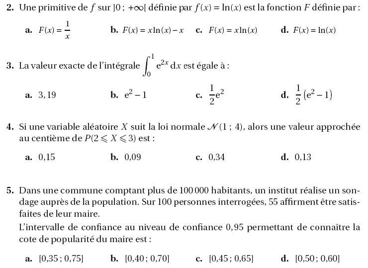 sujet de bac maths s