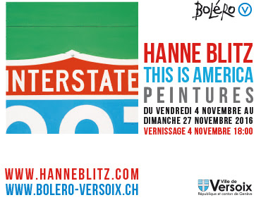 Hanne Blitz exhibition: This is America, galerie Boléro, centre d'art et de culture Versoix, Switzerland, 4 - 27 November 2016
