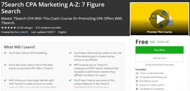 [100% Off] 7Search CPA Marketing A-Z: 7 Figure Search| Worth 25$