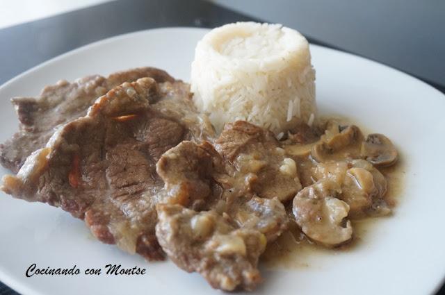 Cocinando con montse ternera con salsa de cerveza - Filetes de carne en salsa ...