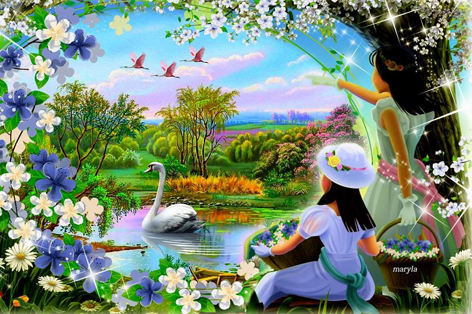 wallpaper baipak: Wallpapers-bg ภาพวาดวิว ธรรมชาติ สวยๆ-2-1