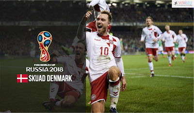Skuad Susunan Pemain Denmark di Piala Dunia 2018