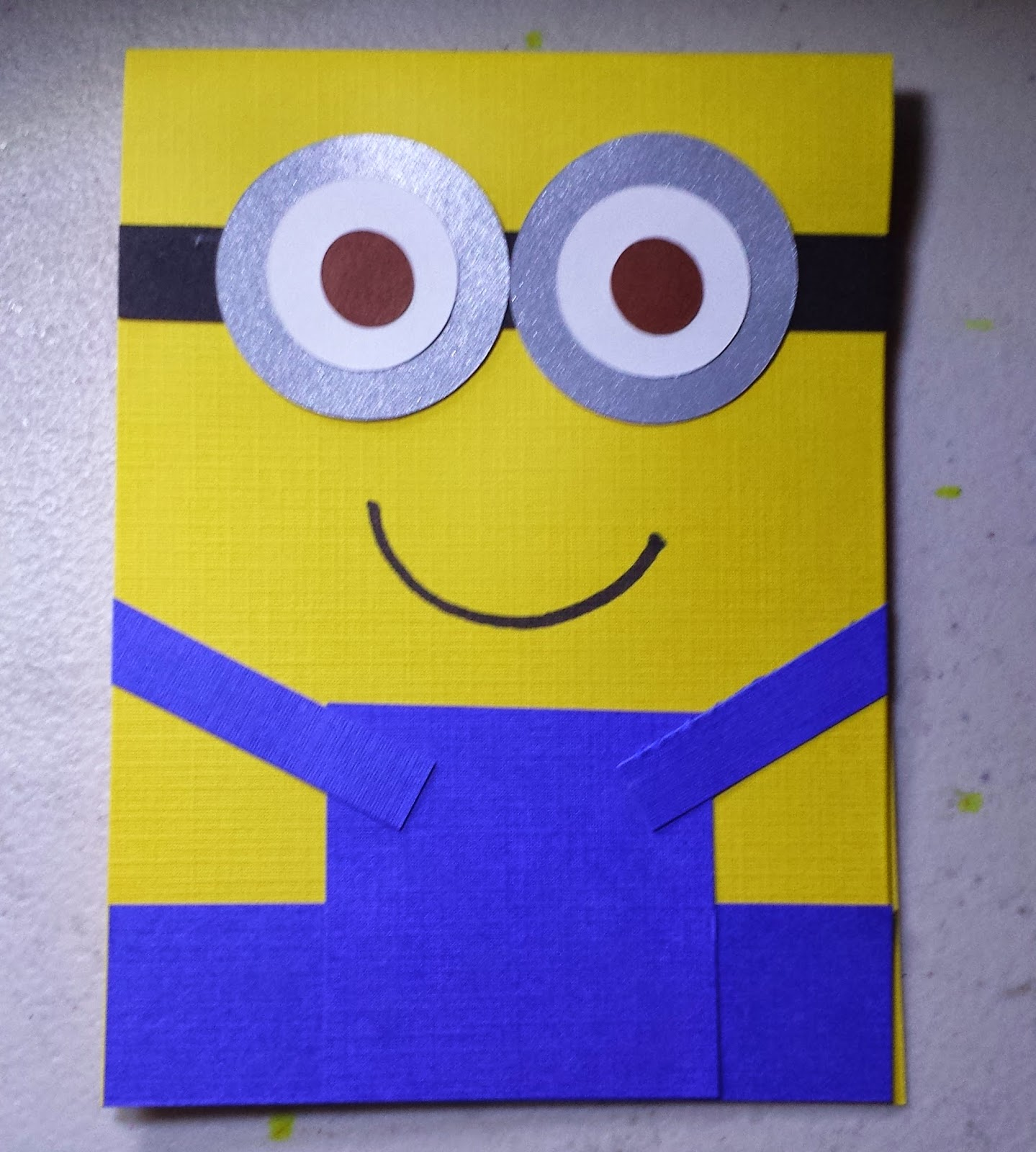 Completed DIY Despicable Me Minion Party Invitation