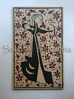 Este bello diseño, representa la fortaleza y la integridad de la mujer. Sacado de un original brasero de Manises que actualmente se encuentra en el Museo del Louvre, París. Socarrat Artesanía. Soc-Art. Camateu
