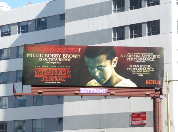 Stranger Things Millie Bobby Brown awards consideration billboard