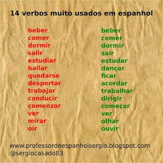 14 verbos muito usados em espanhol