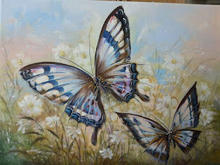 Картина луговыебабочки, 30х40см.