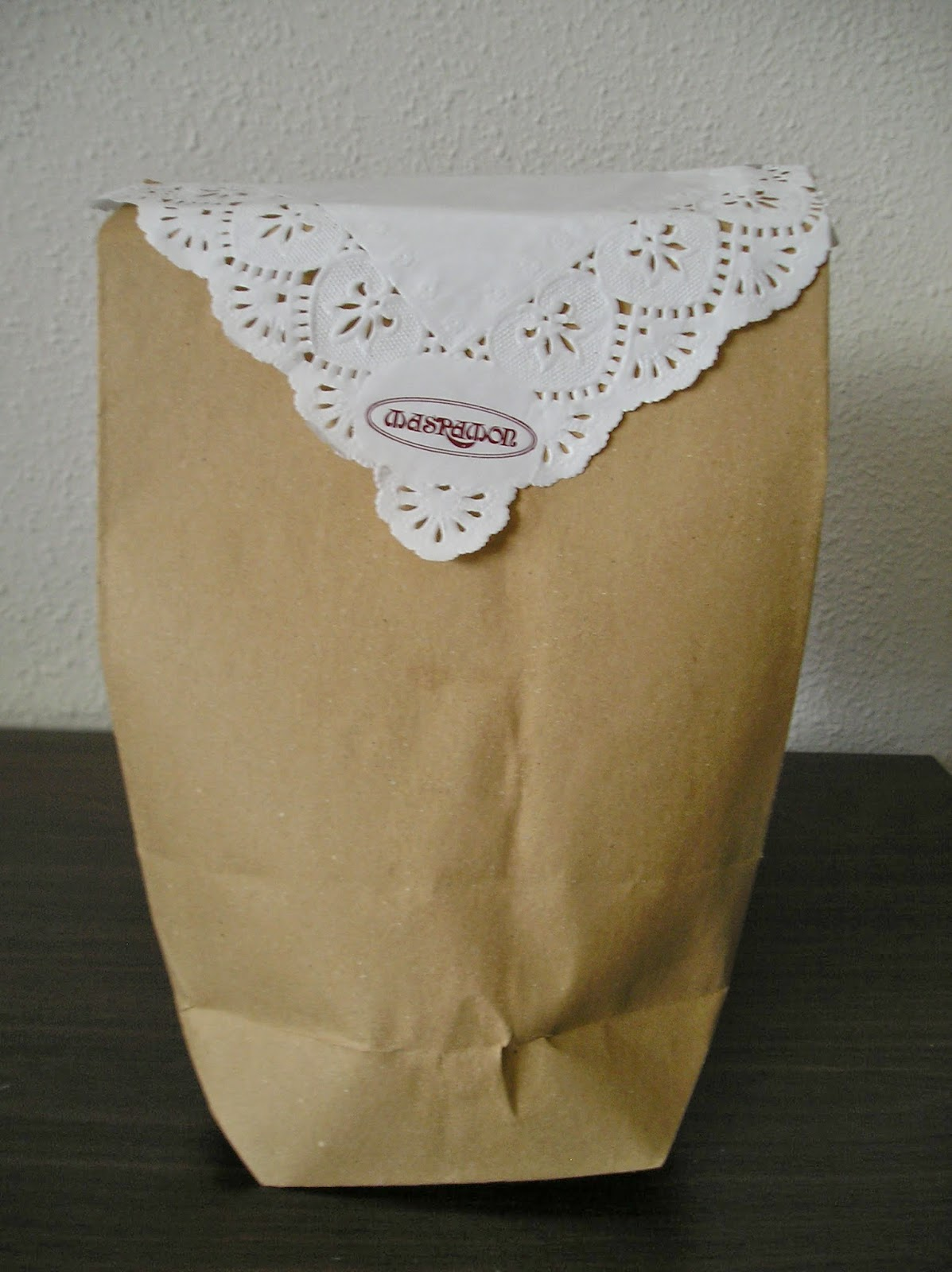 bolsa de papel antigua
