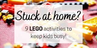 Ways to entertain kids with lego blocks :  floating legos, lego race cars, lego games, make a LEGO cake, and more!