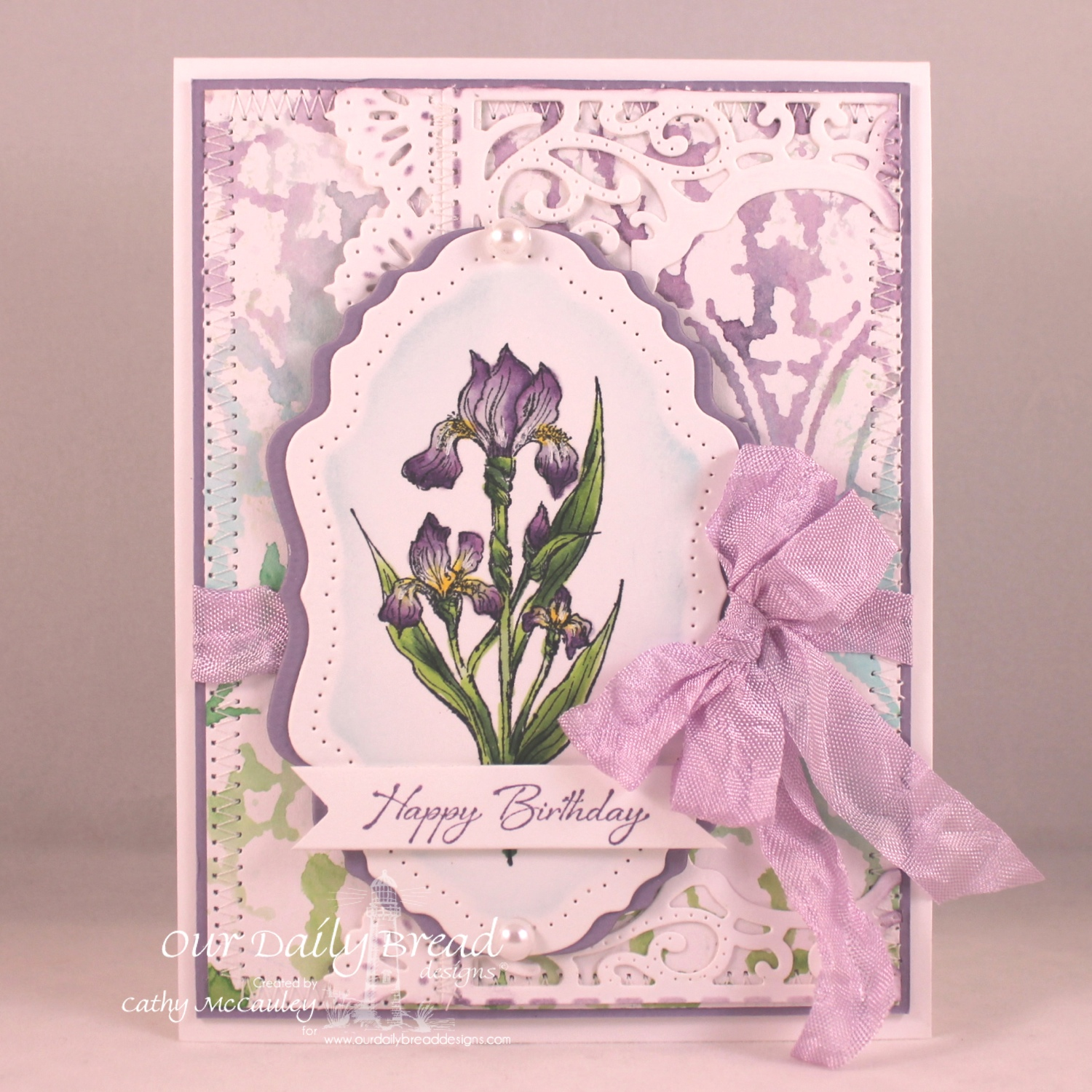 Stamps - Our Daily Bread Designs Iris, ODBD Custom VIntage Flourish Pattern Die, ODBD Custom Beautiful Borders Dies