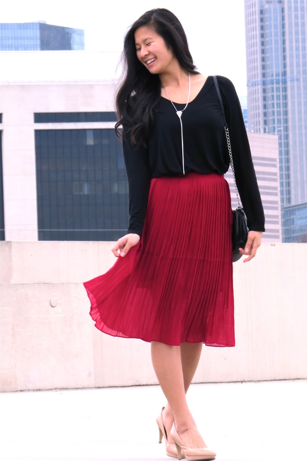 How_to_style_a_red_midi_skirt