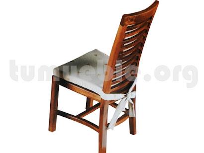 silla comedor en teca 4118