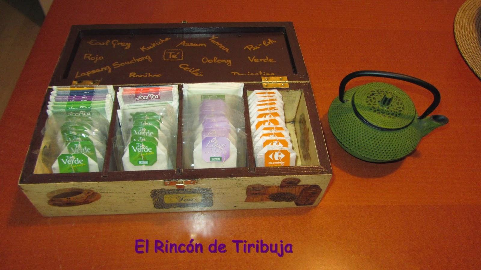 Las creaciones de tiri caja de t decorada - Como hacer una caja para te ...