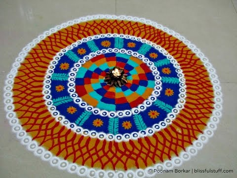 Beautiful and Unique Multicolored Rangoli Design Diwali Special