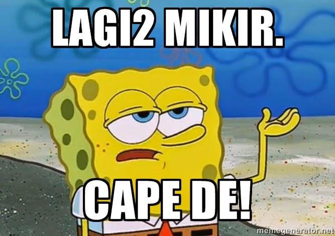 spongebob cape berburu ubur-ubur