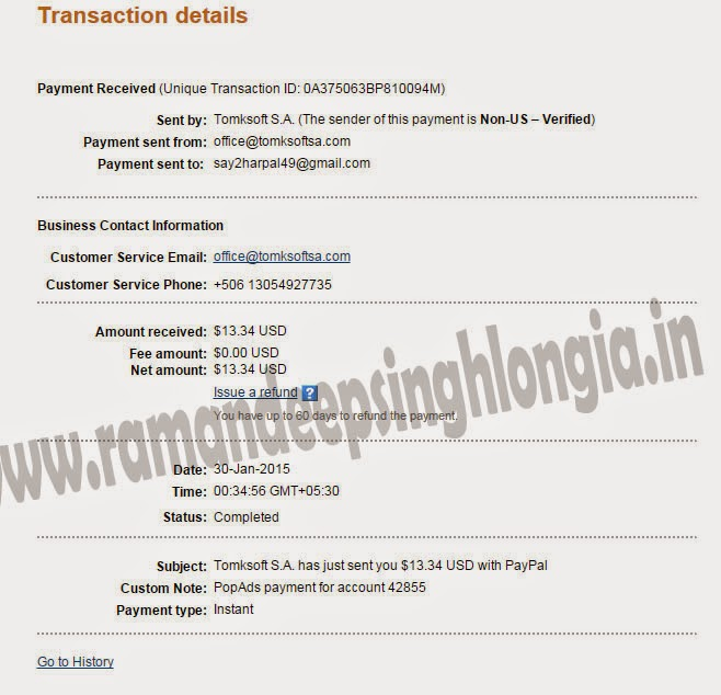 PopAds Payment Proof