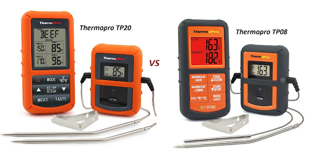 thermopro tp20 vs tp08 food thermometer